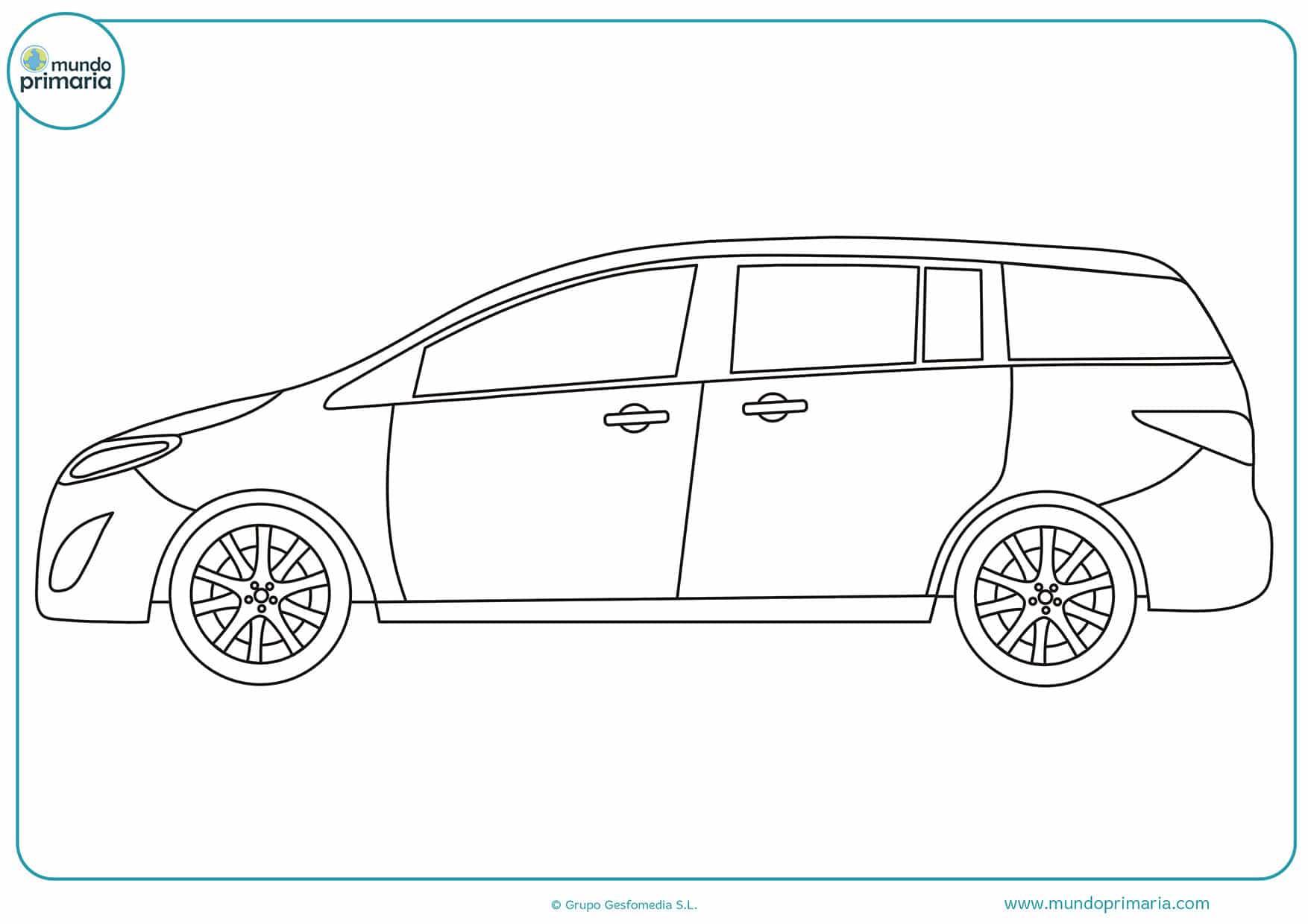Dibujos carros colorear infantiles