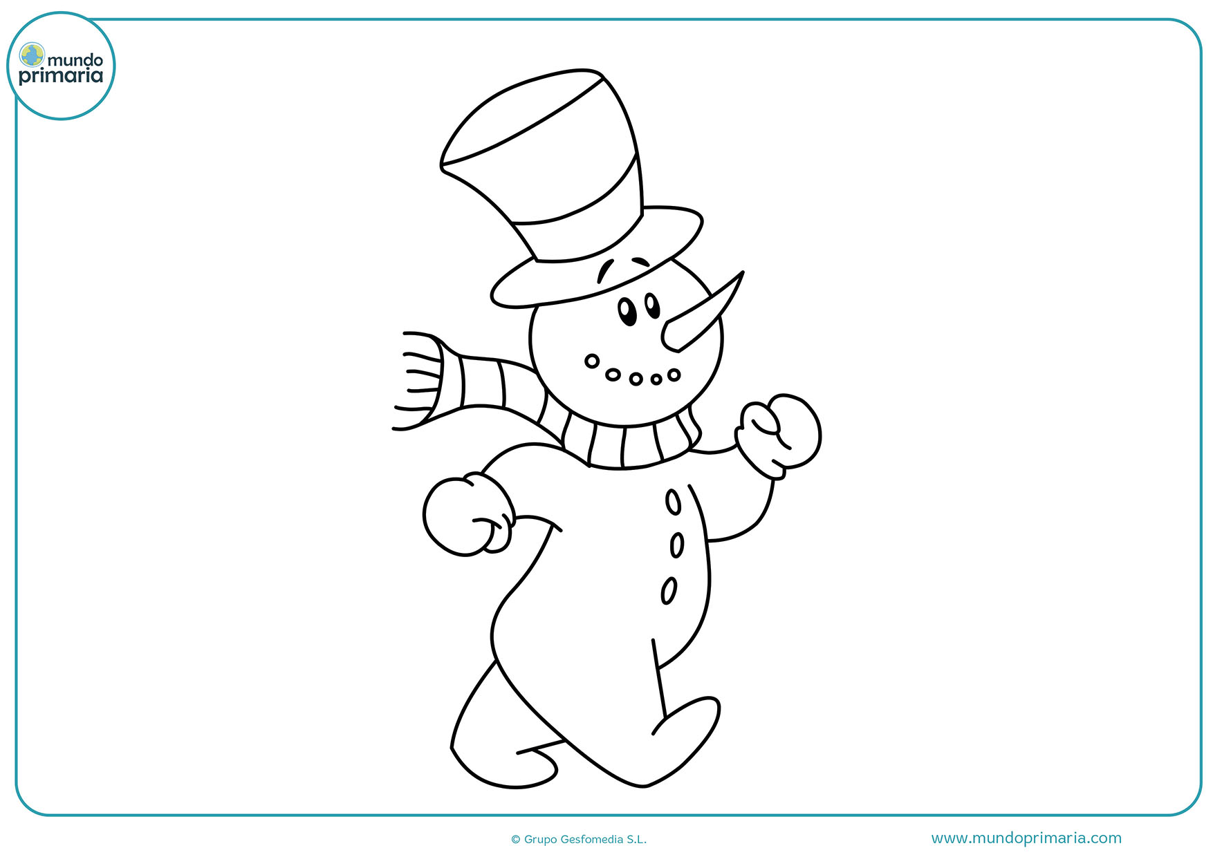 Dibujos de navidad para colorear mundo primaria - Dibujos navidad en color ...