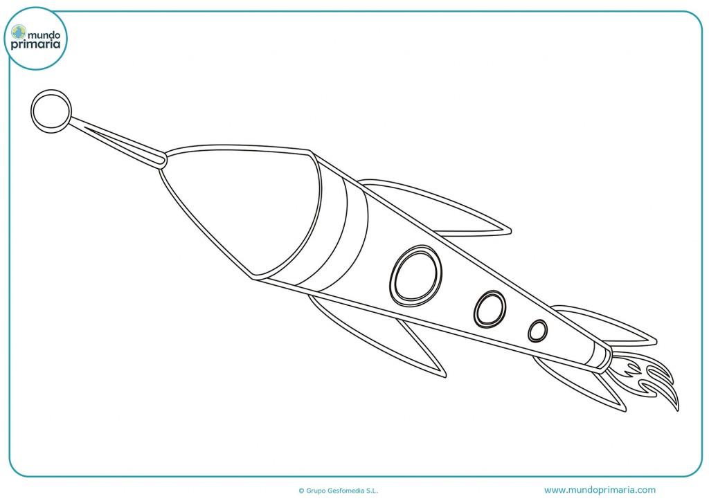 Dibujo de una nave espacial para colorear