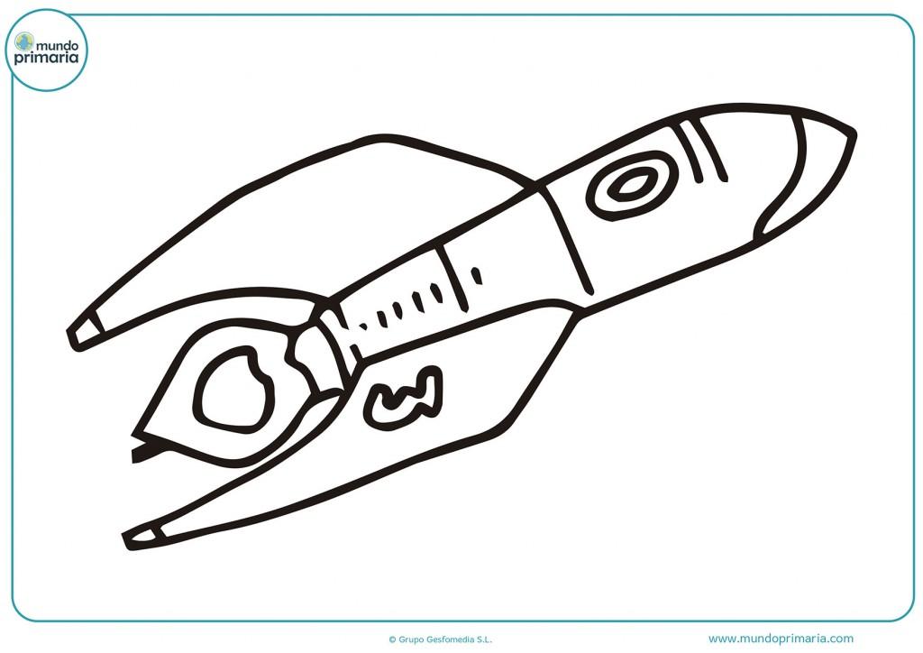 Dibujo de nave espacial apunto de aterrizar