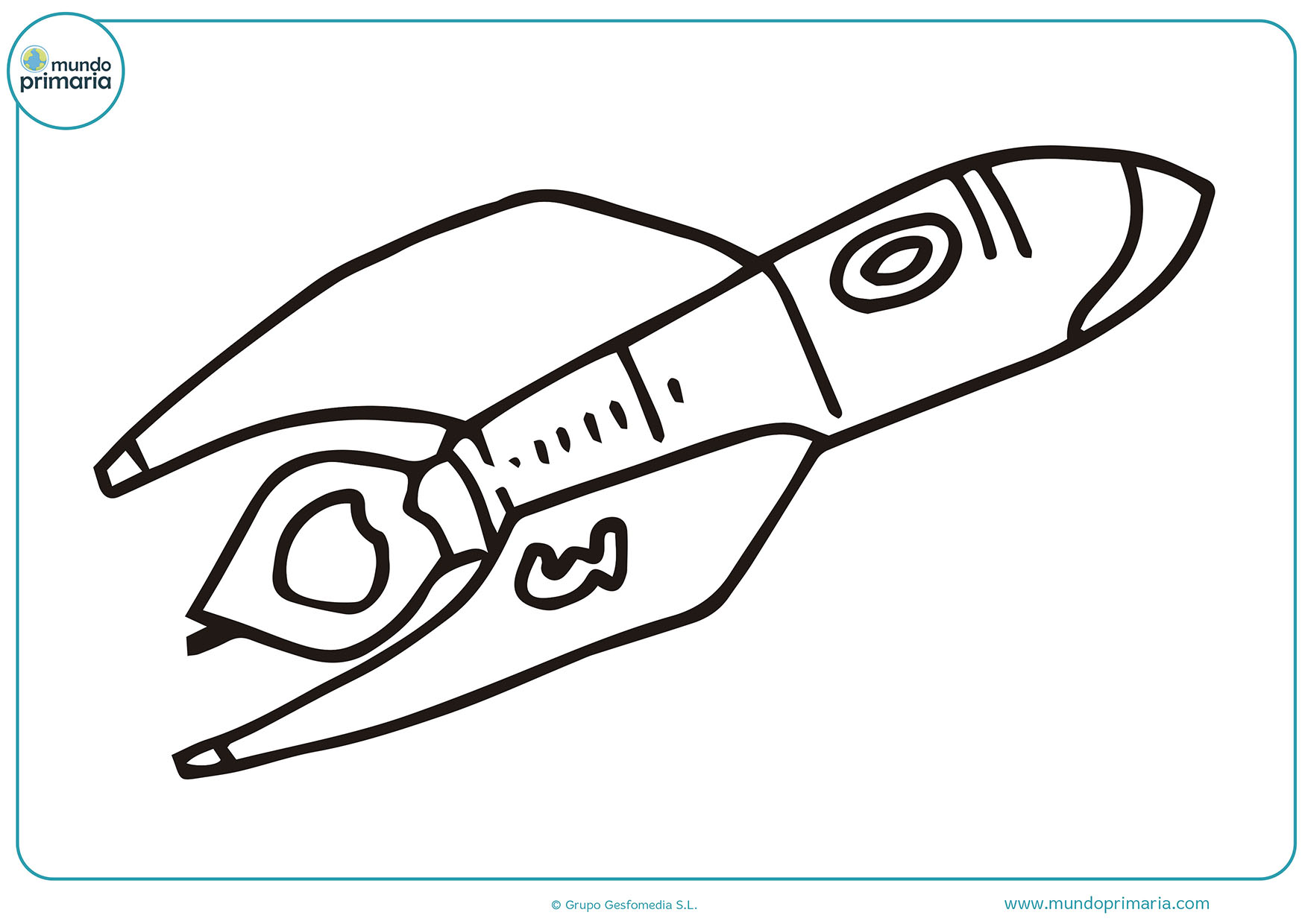 Dibujos de cohetes para colorear - Mundo Primaria