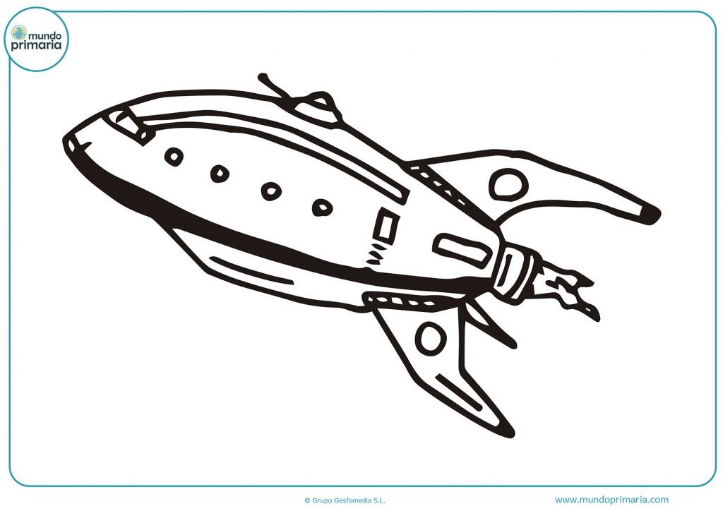 Gran nave espacial futurista para colorear