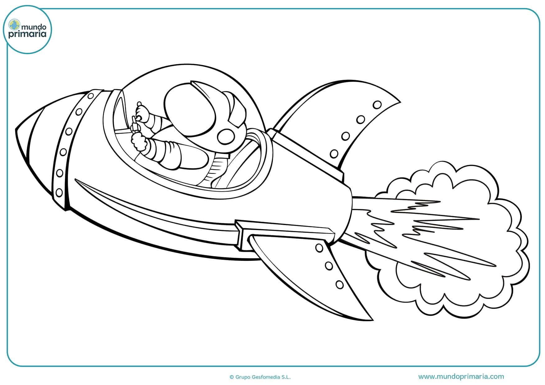 Dibujos De Cohetes Para Colorear