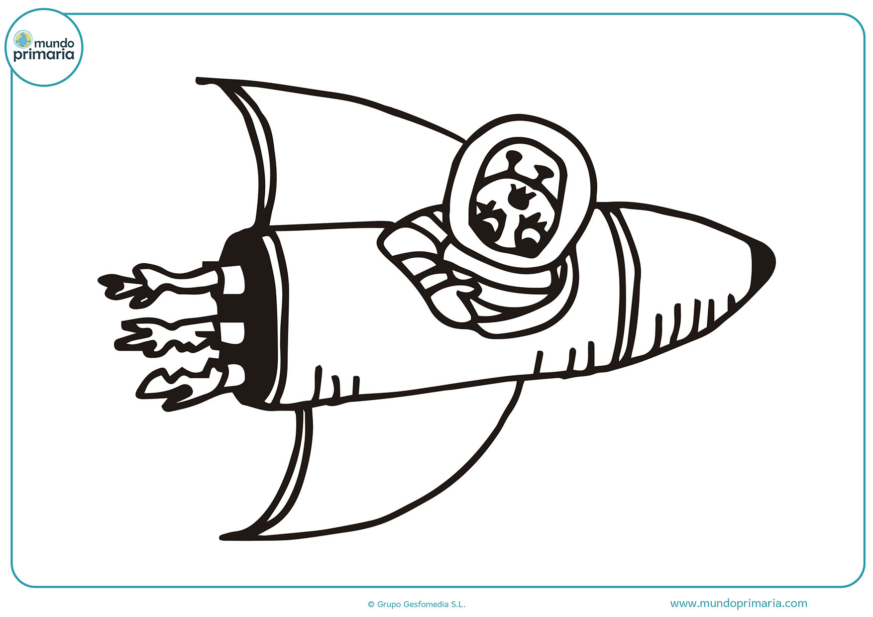 Colorear dibujos cohetes gratis