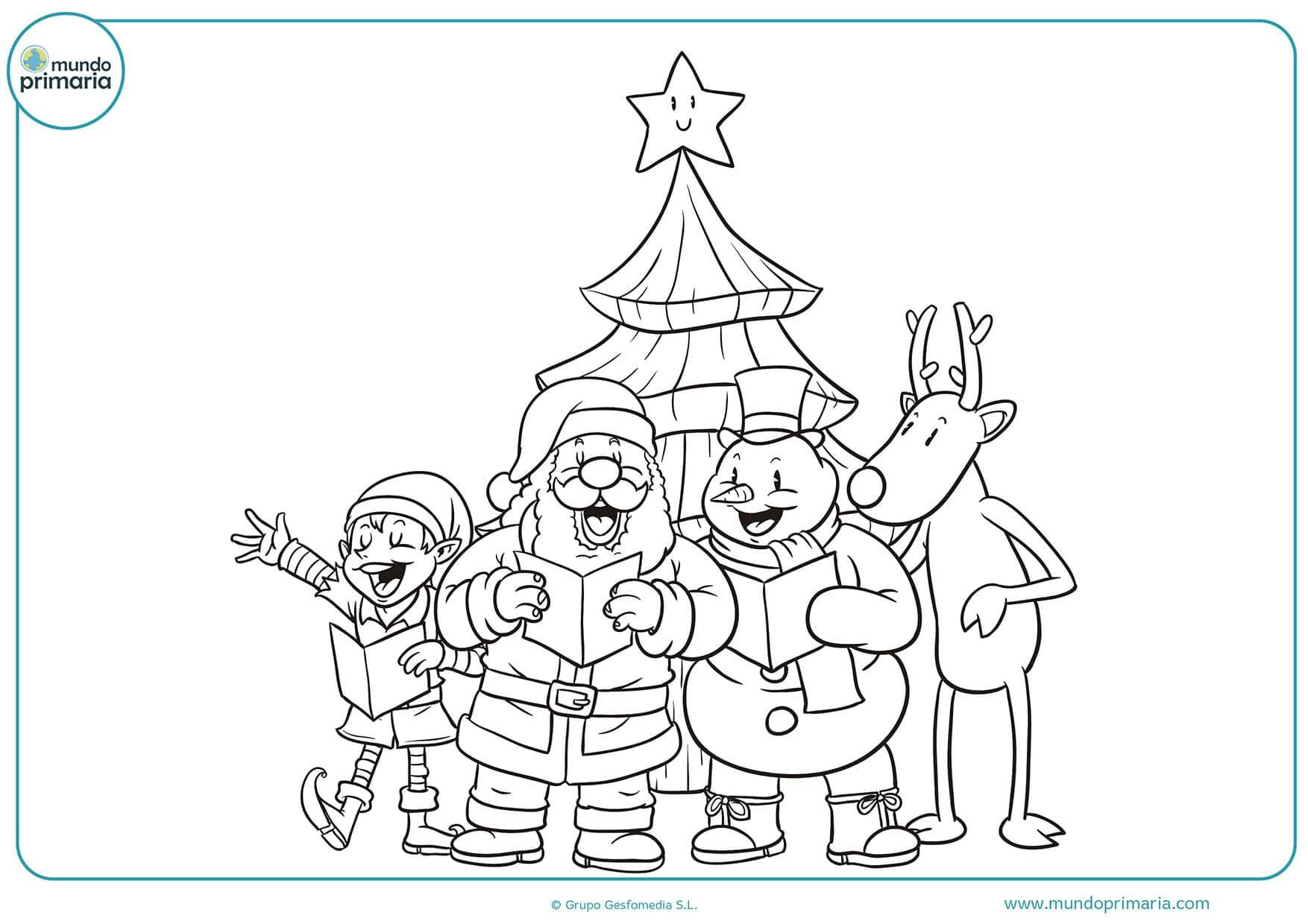 Imagenes De Niños Pintando Para Colorear: Dibujos De Navidad Para Colorear E Imprimir 【Originales Y