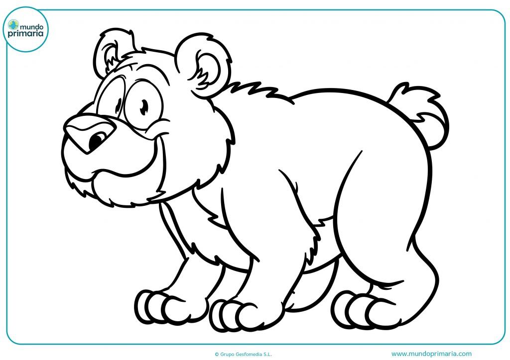 Descarga esta ficha y colorea el oso andando para terminar el dibujo
