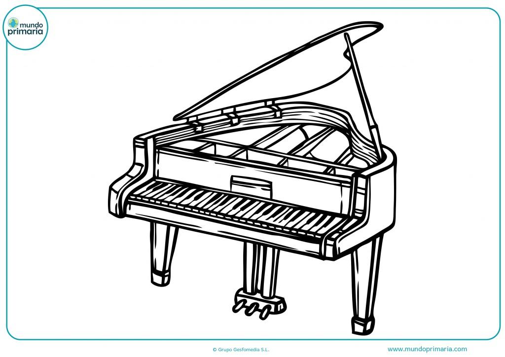 Colorea este piano de cola y las teclas