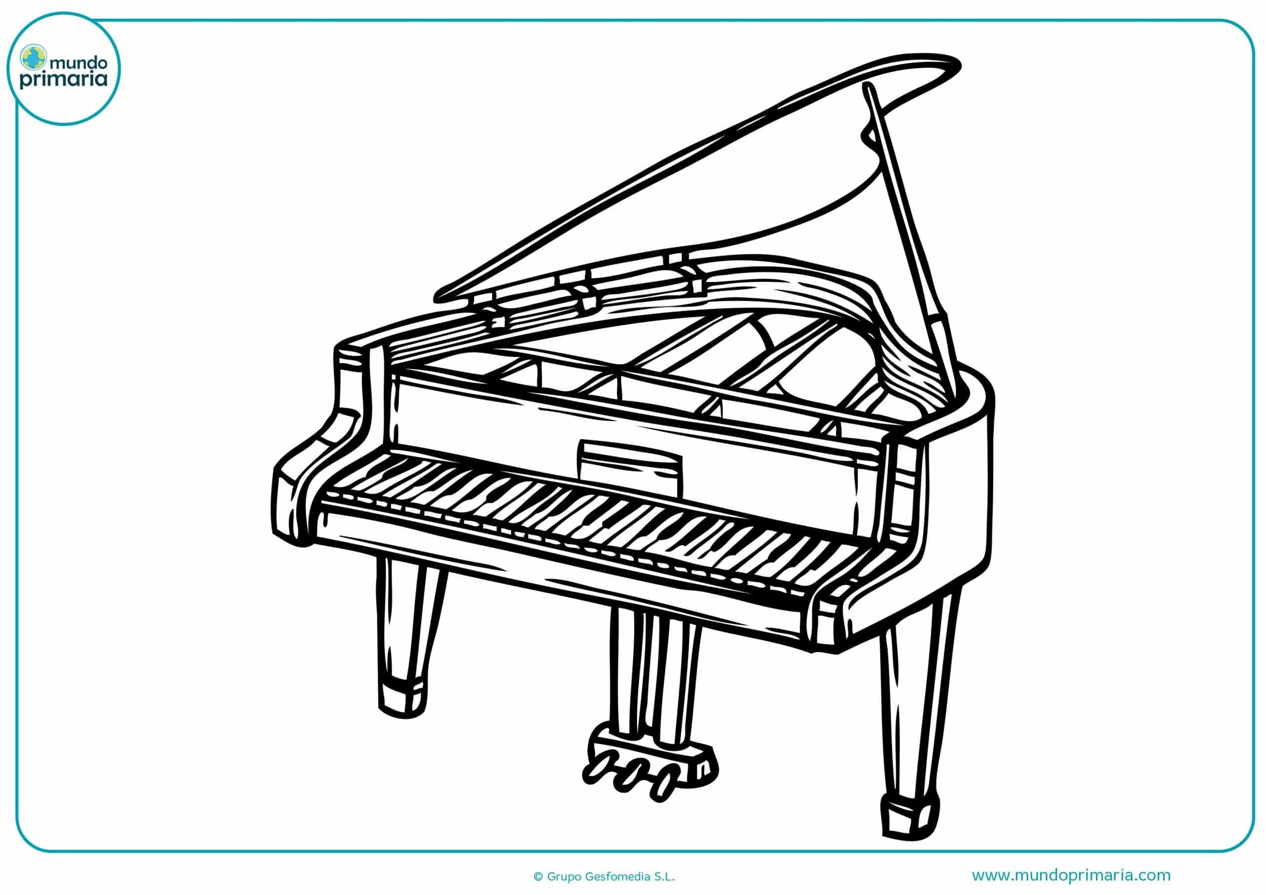Colorear instrumentos musicales on line