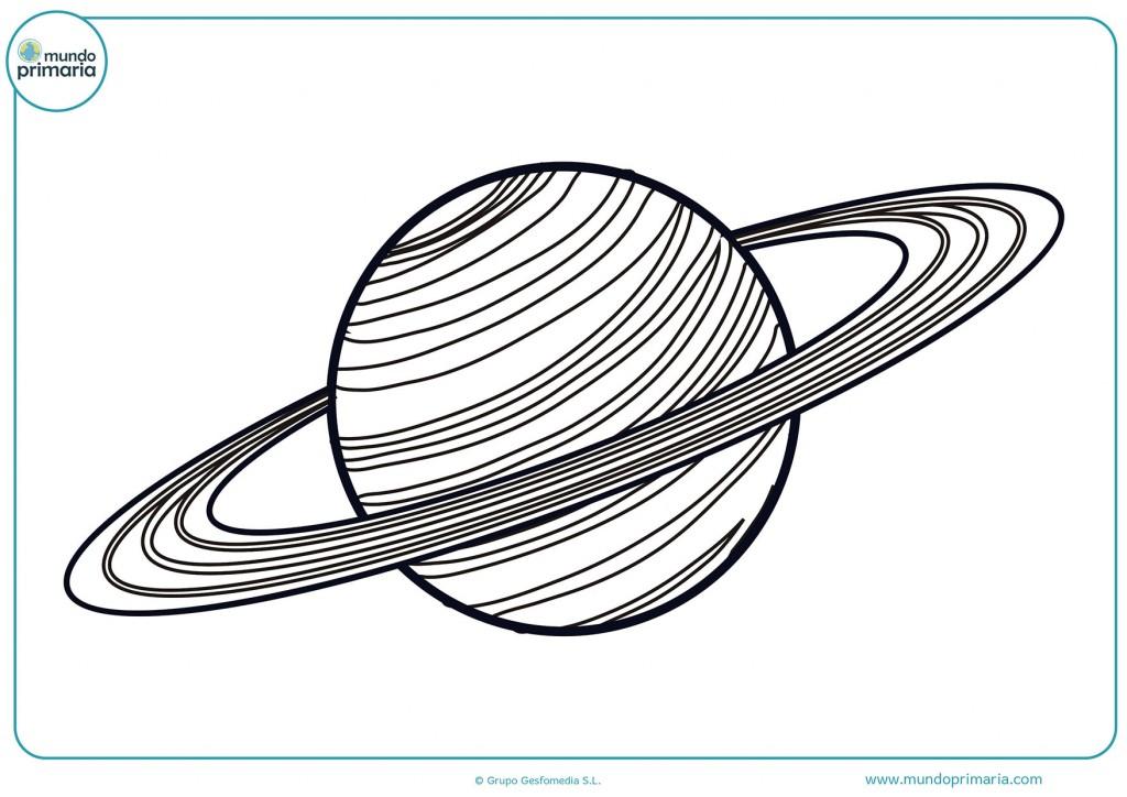 Planeta Saturno para terminar de colorear