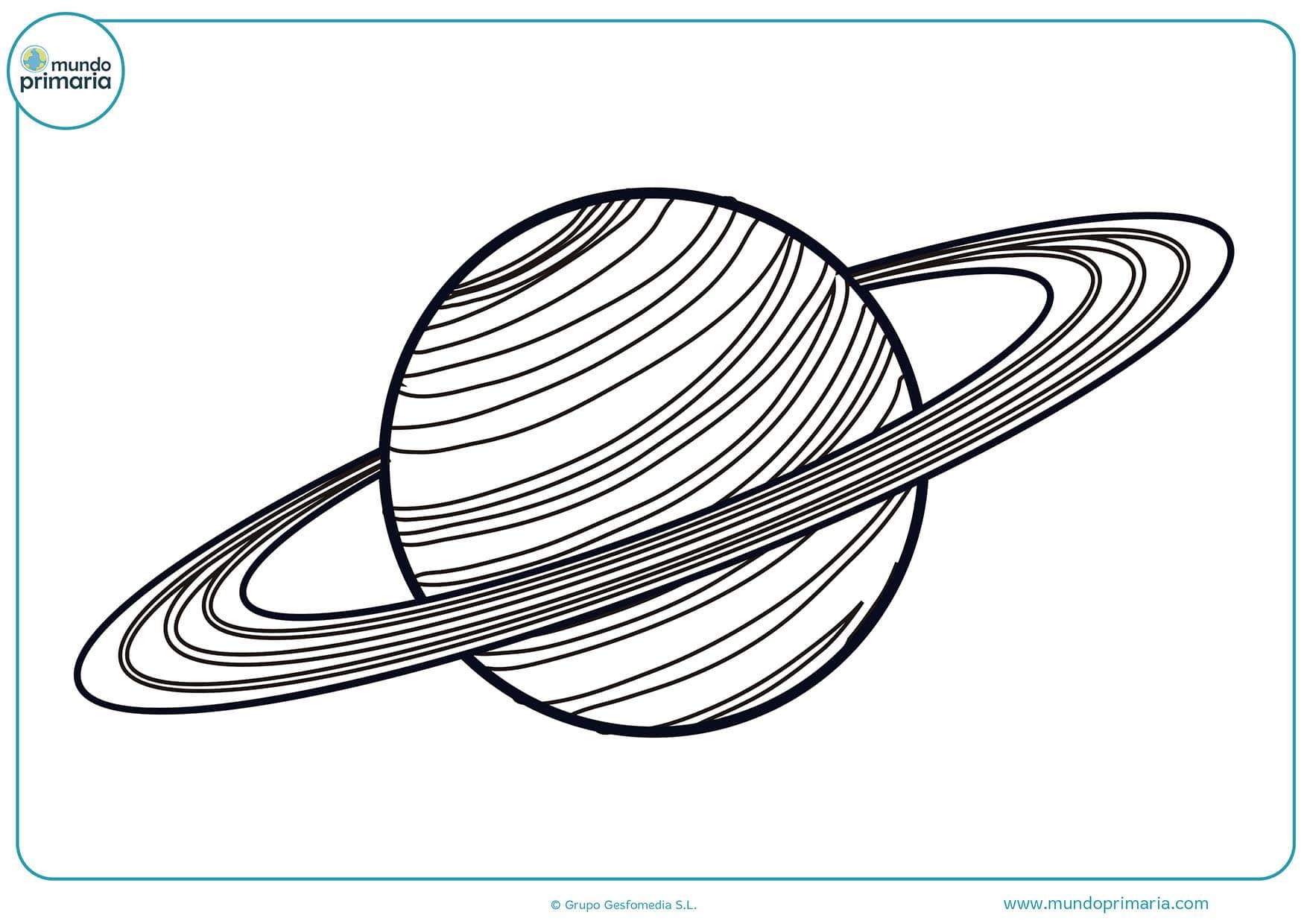 Dibujos planetas colorear