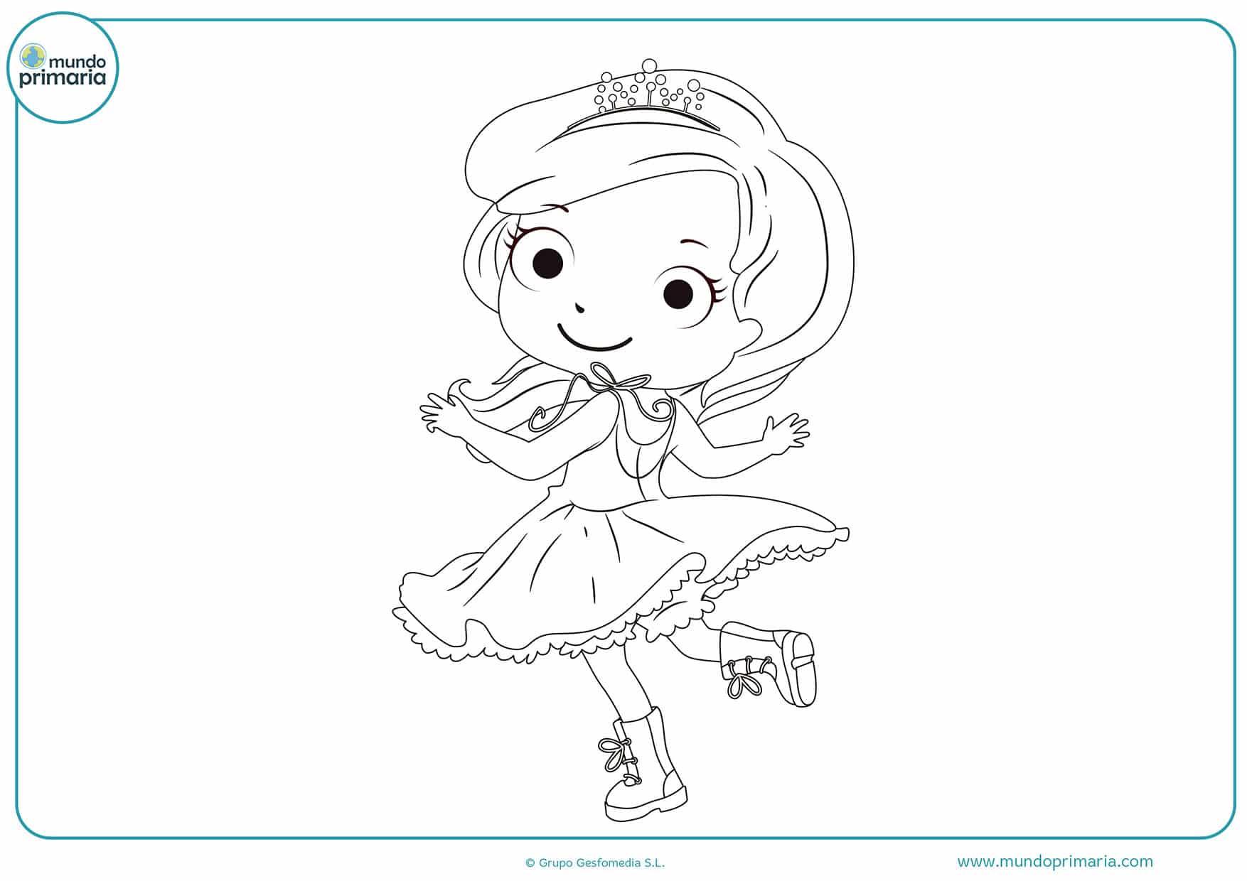 Colorear Para Niñas: Dibujos De Princesas Para Colorear