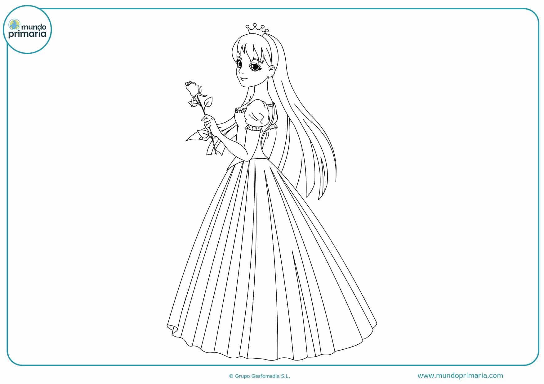Dibujos colorear princesas