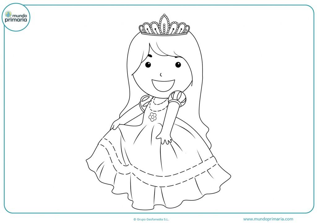 Colorea la corona de la princesa con pintura