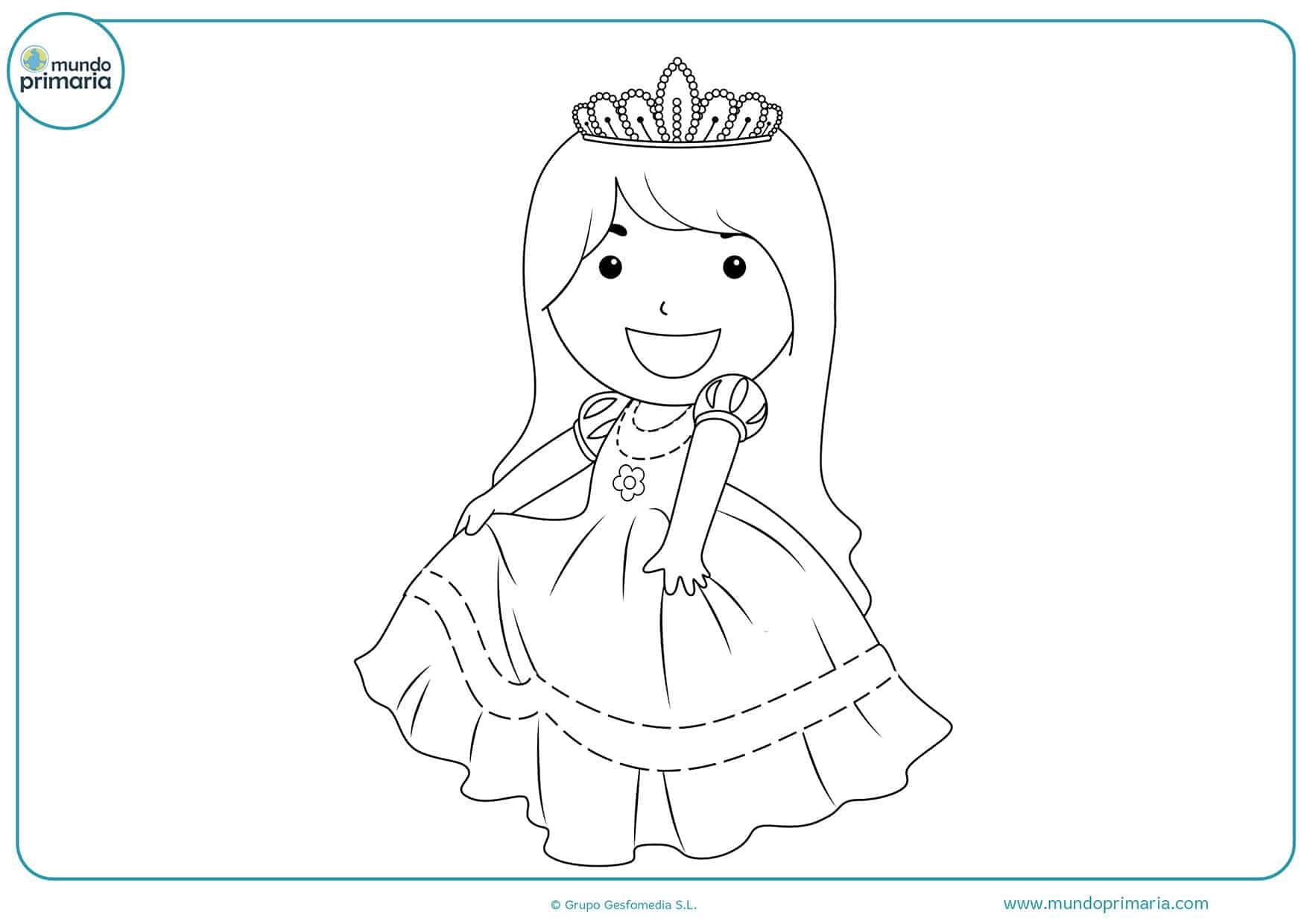 Dibujos princesas colorear