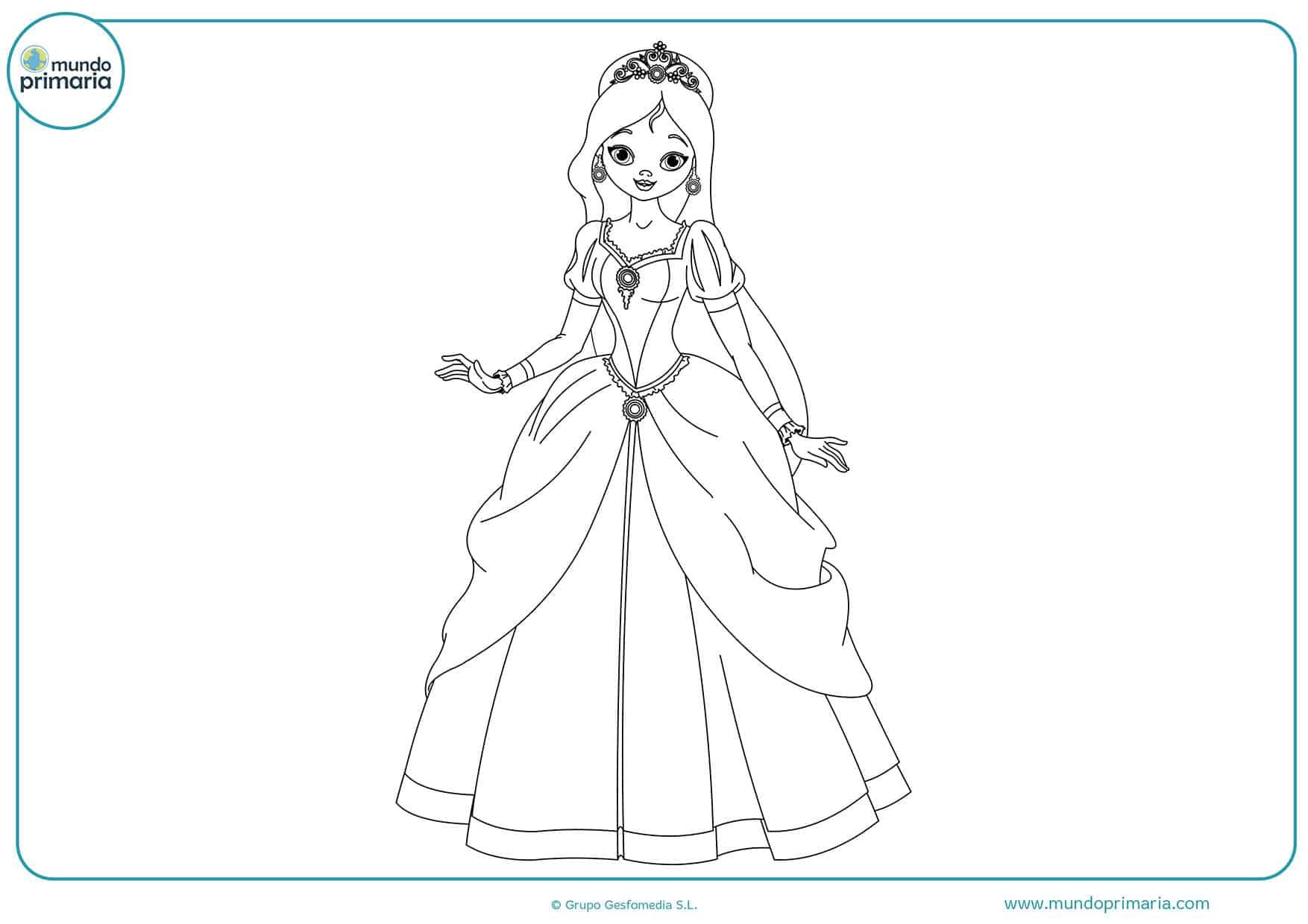 Colorear dibujos princesas