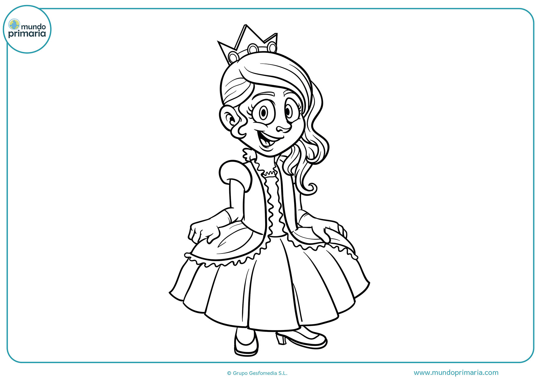 Princesas dibujos colorear