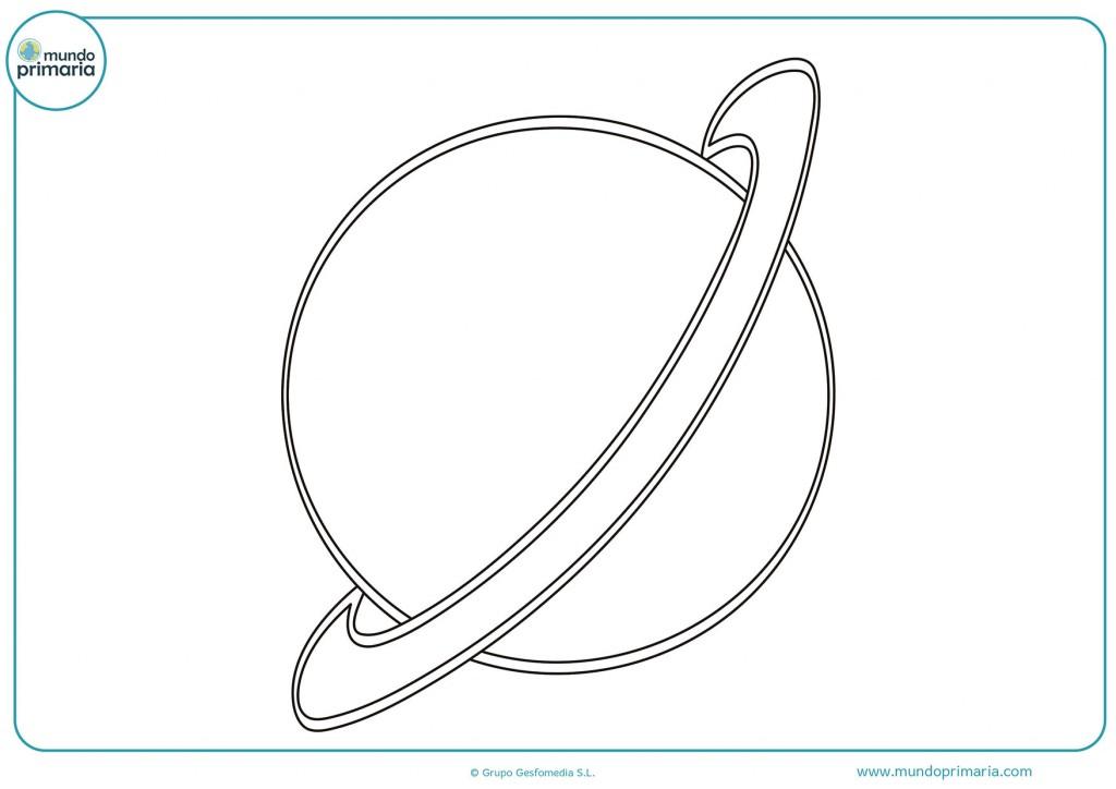Pinta el planeta Saturno y no te olvides del aro