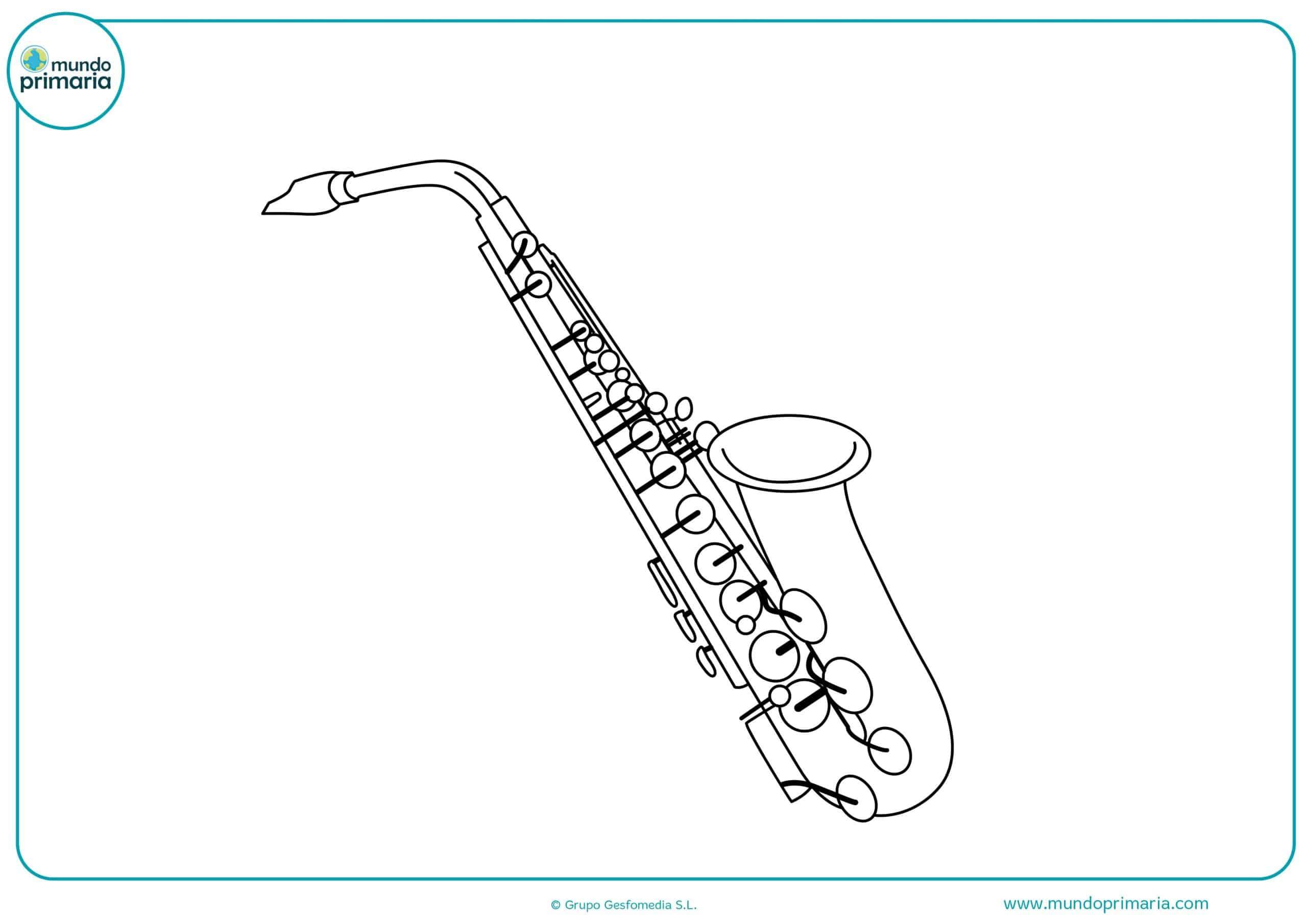 Instrumentos dibujo musicales colorear