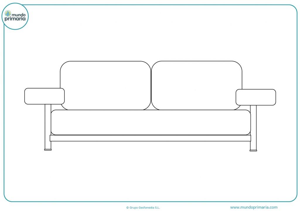 Imagen de un sofá moderno para pintar