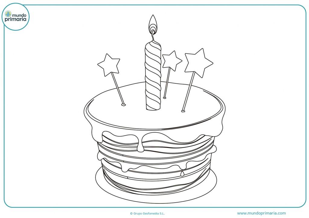 Dibujo de una tarta grande para colorear