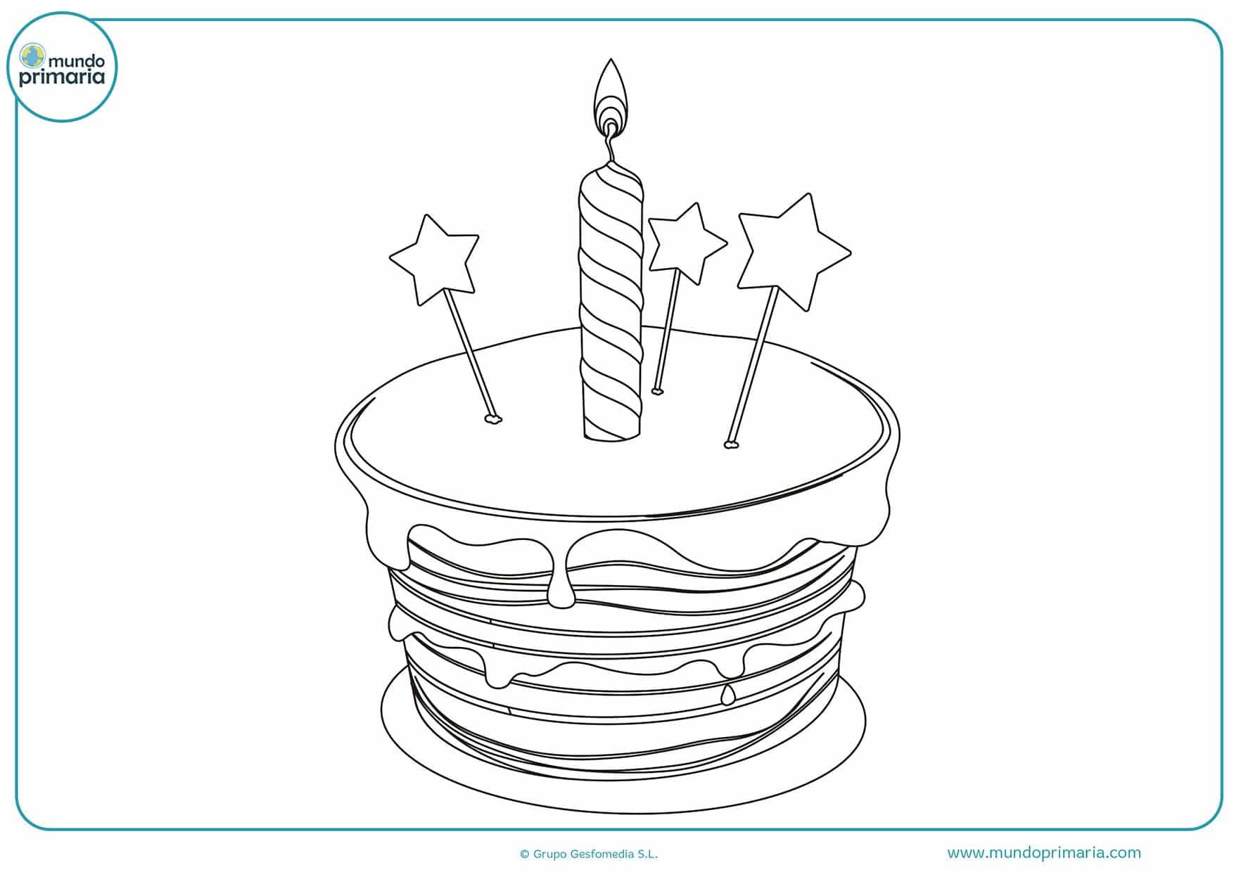 Colorear Dibujos Infantiles: Dibujos De Cumpleaños Para Colorear