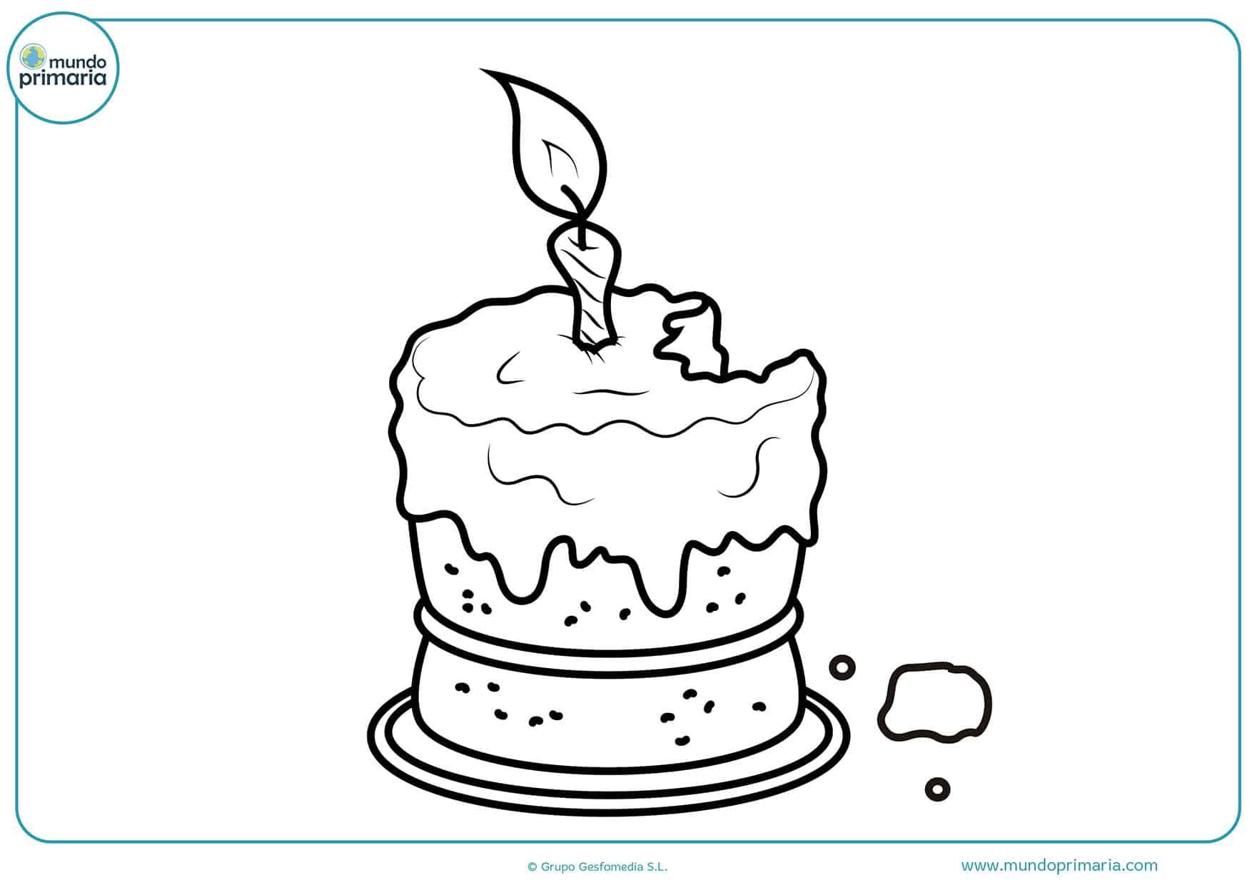 Dibujos colorear cumpleaños
