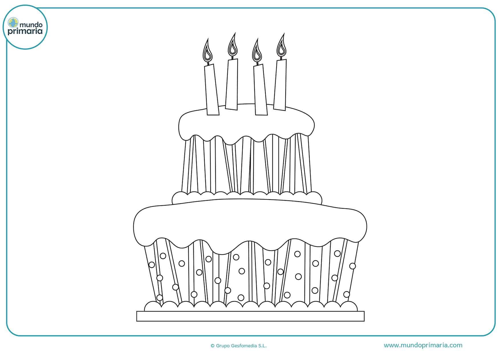 Dibujos cumpleaños colorear e imprimir