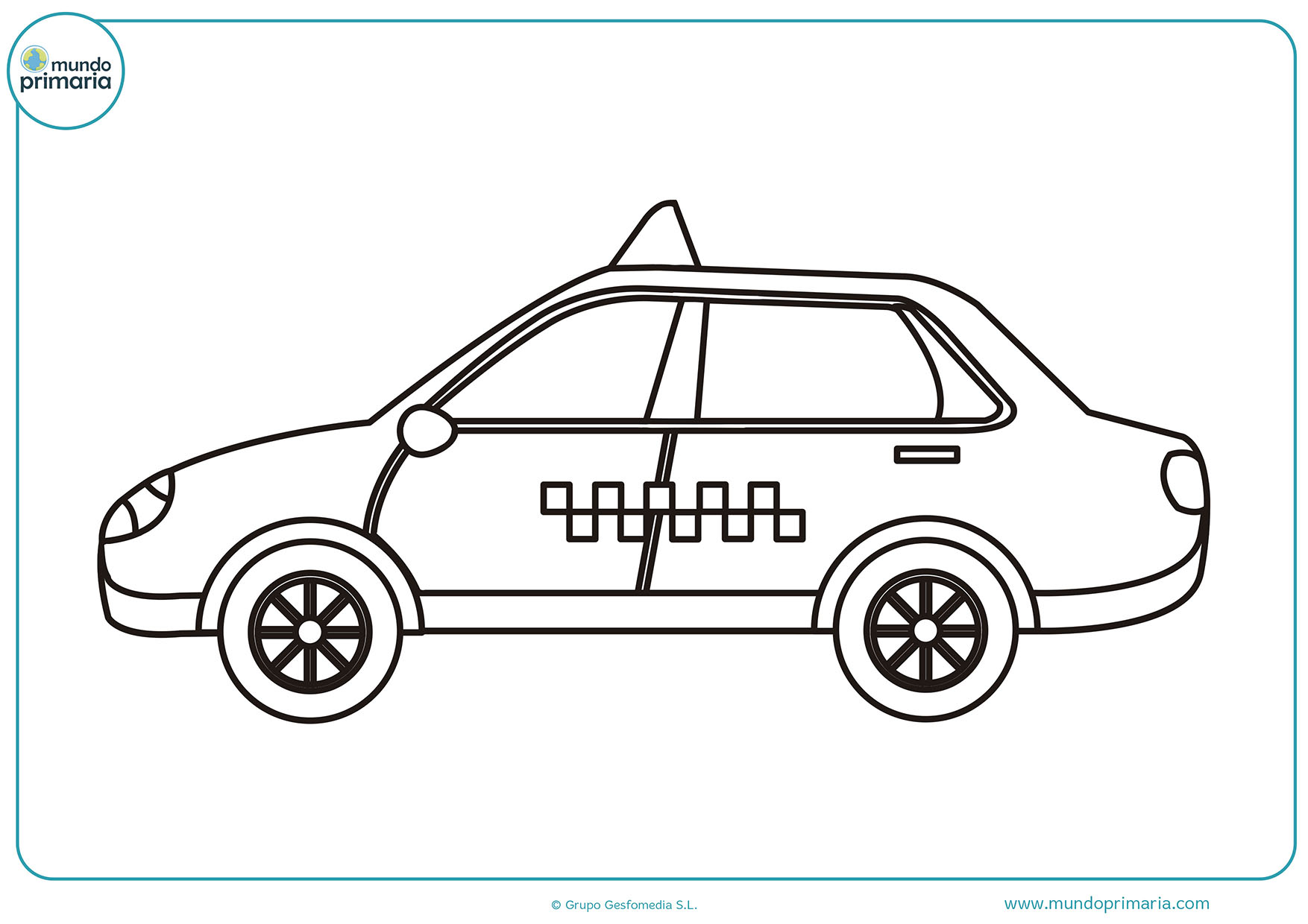 Carros colorear primaria