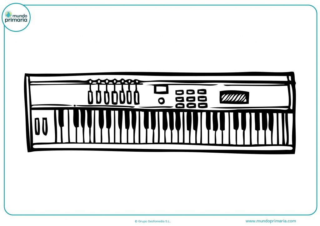 Colorea el teclado blanco y negro