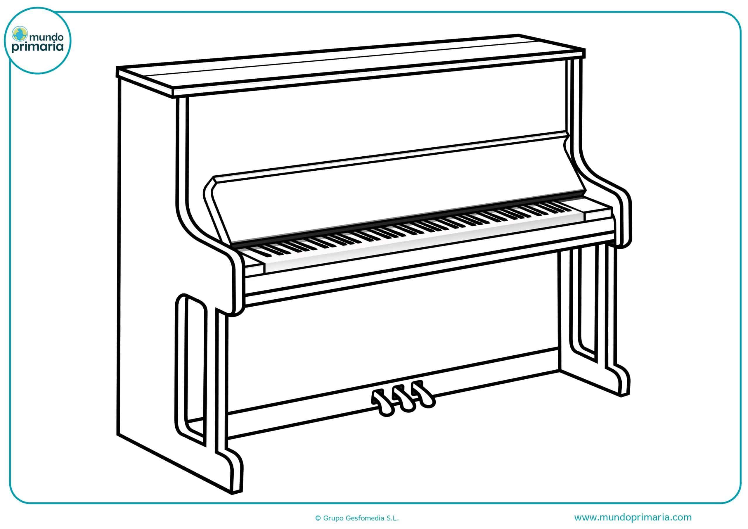 Descargar dibujo instrumentos musicales colorear gratis