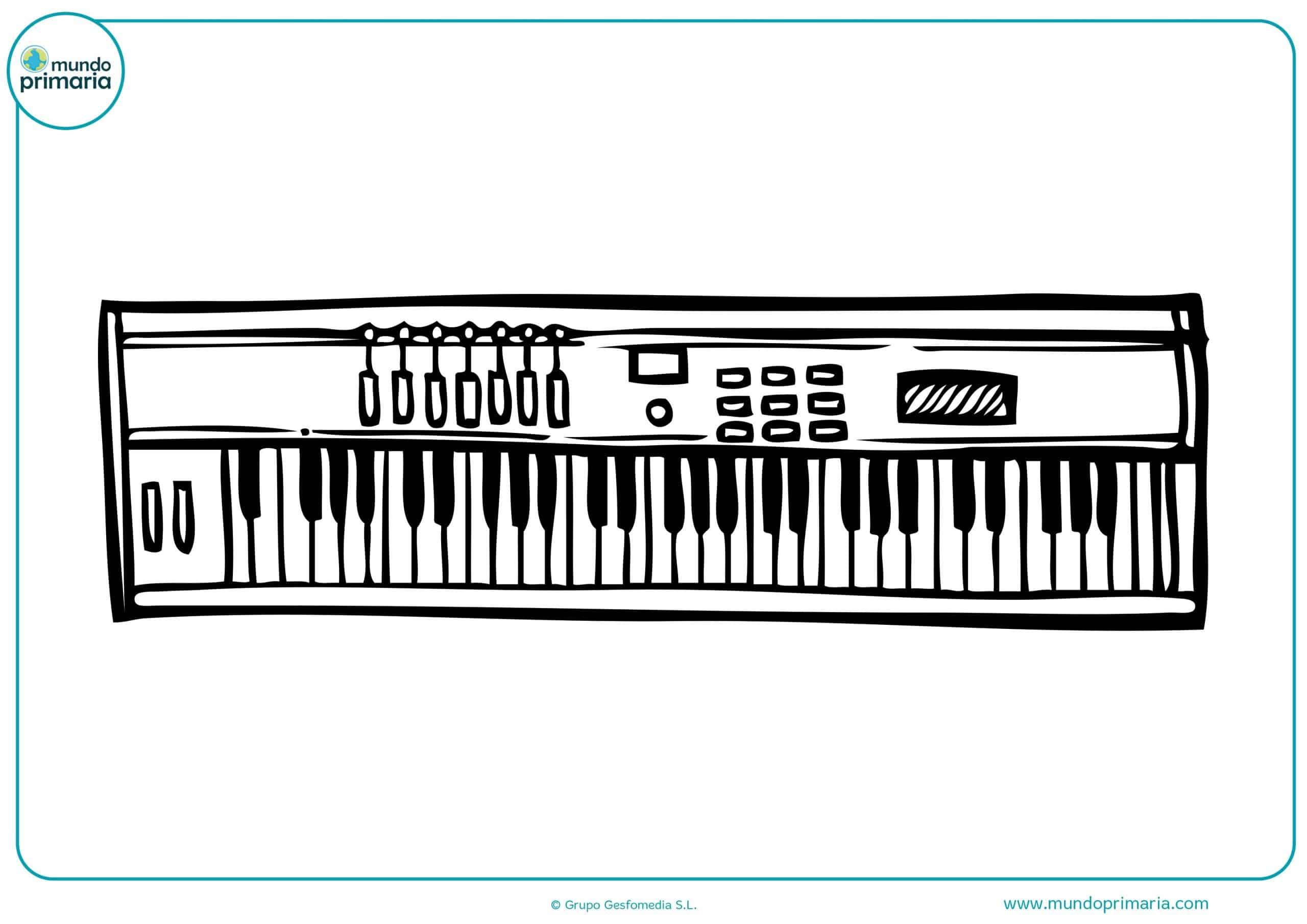 Descargar dibujos instrumentos musicales colorear