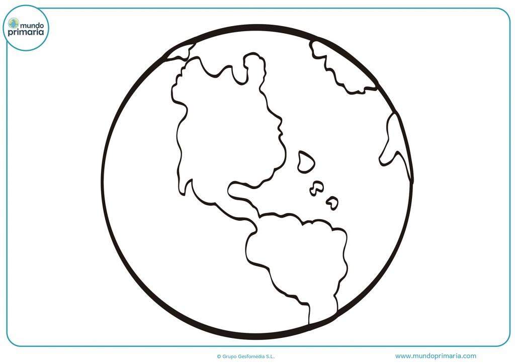 Dibujo de el Planeta Tierra para pintar