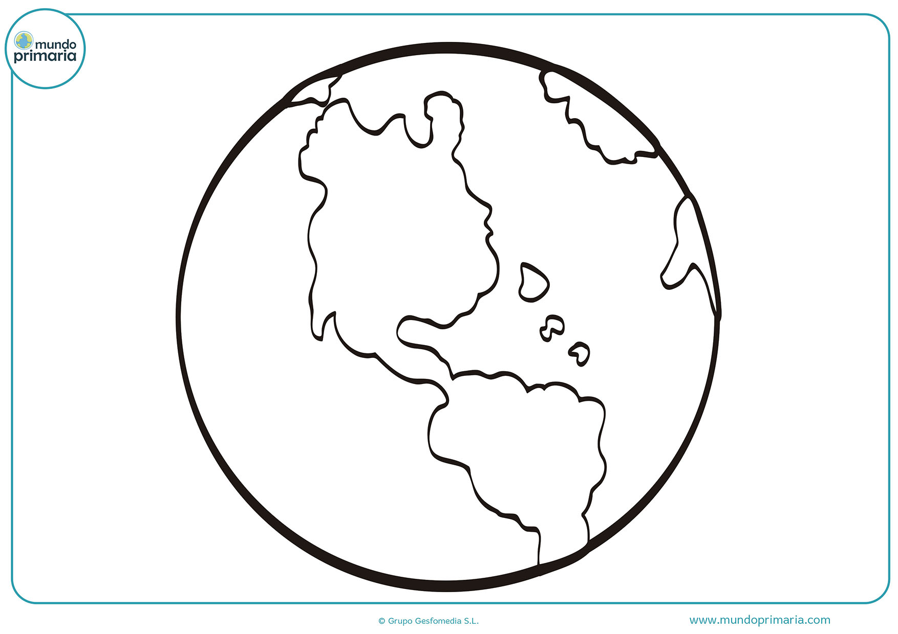 Dibujos colorear planetas para niños
