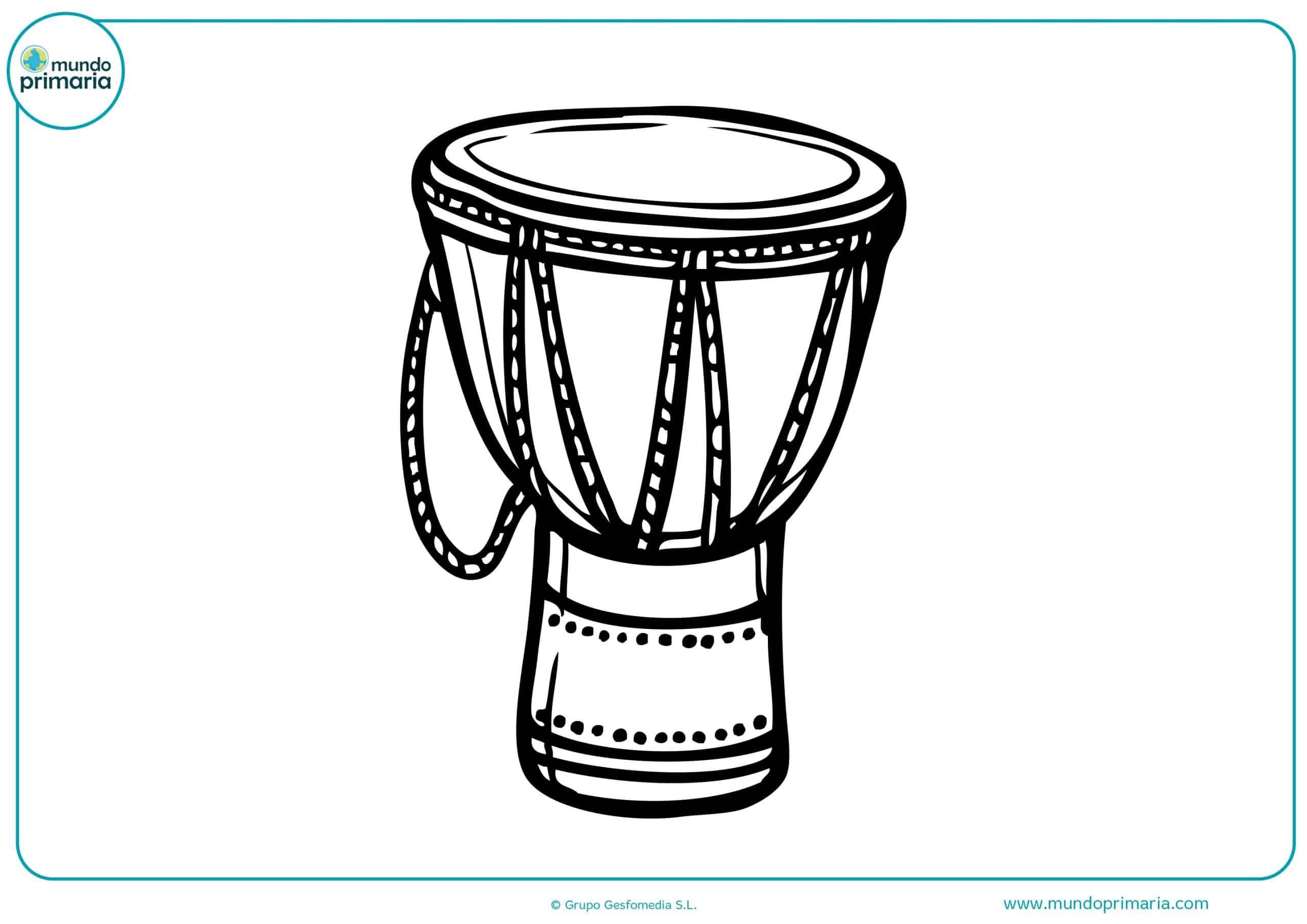Dibujos instrumentos musicales niños primaria