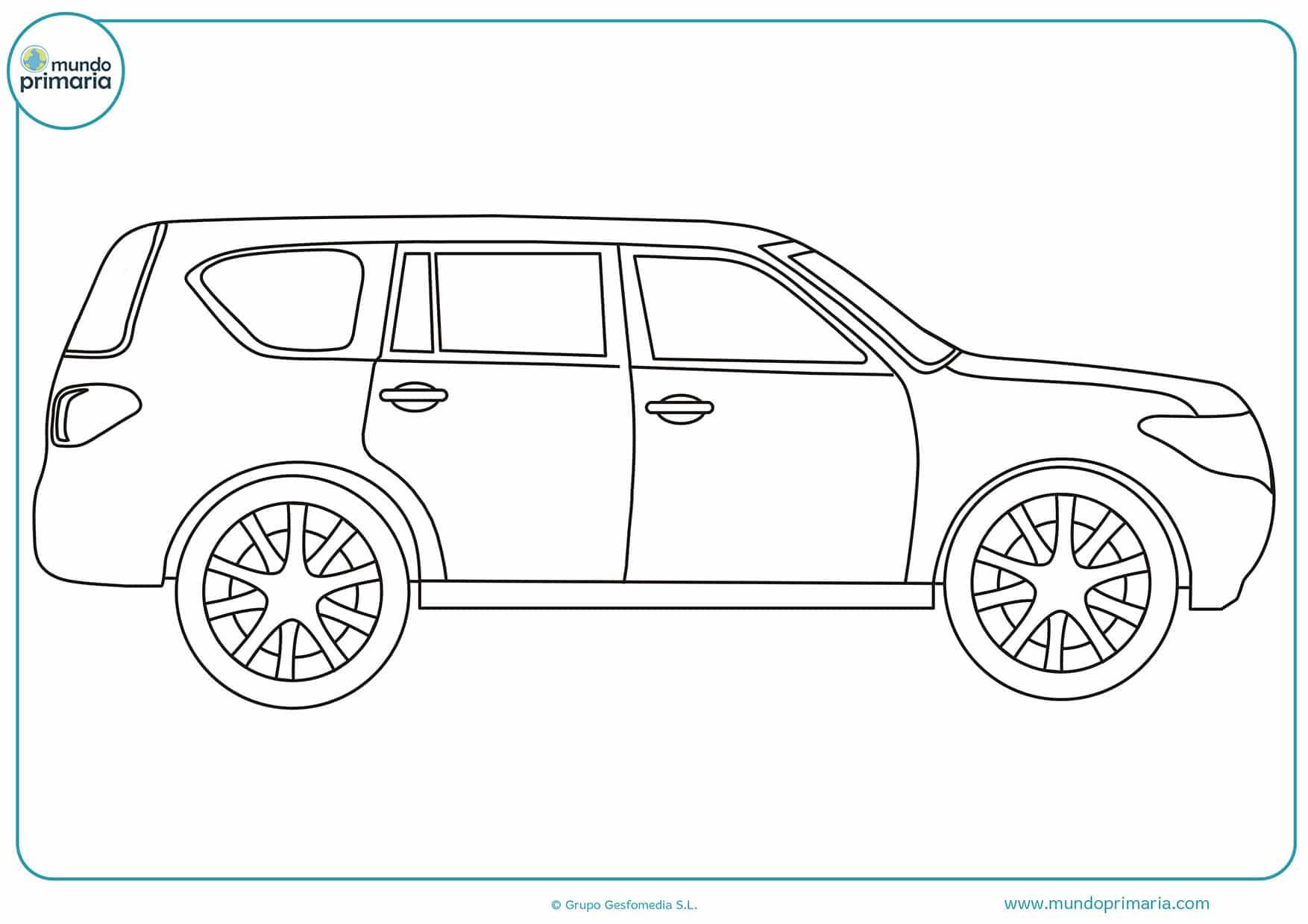 Dibujos colorear carros