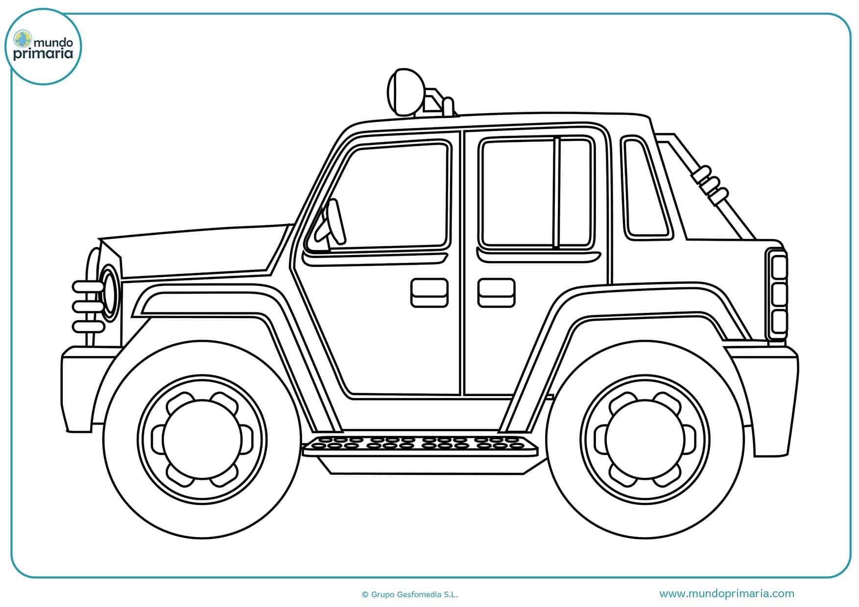 Dibujos colorear carros niños