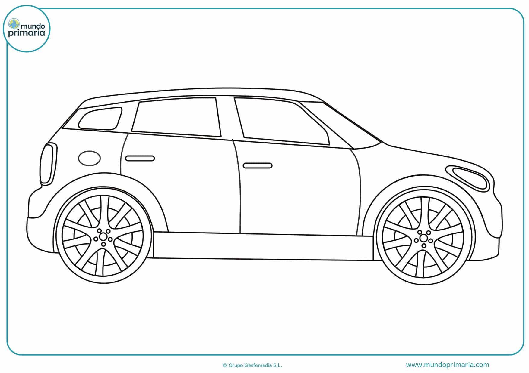Dibujos carros colorear
