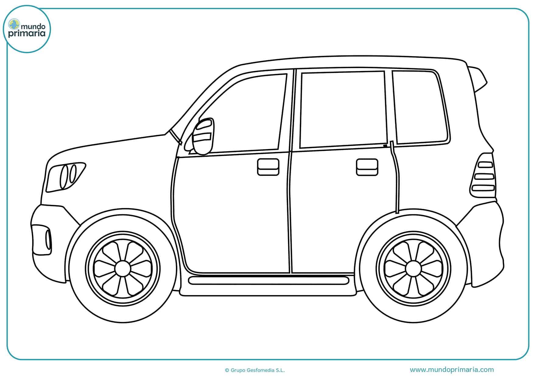 Colorear dibujos carros