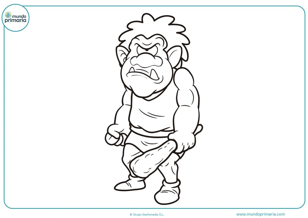 Descarga y pinta eldibujo del troll con rabia
