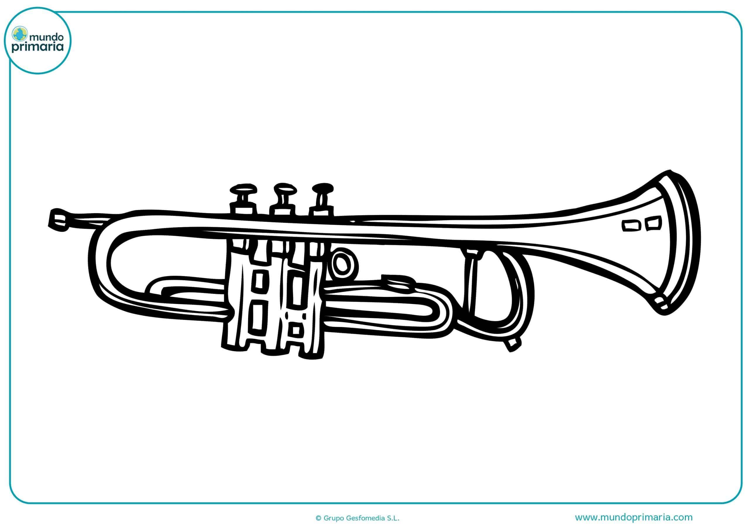 Instrumentos musicales colorear niños pequeños