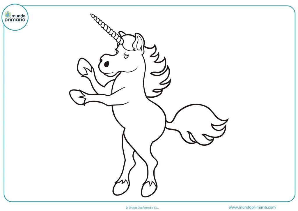 Colorea el unicornio de perfil para completar el dibujo