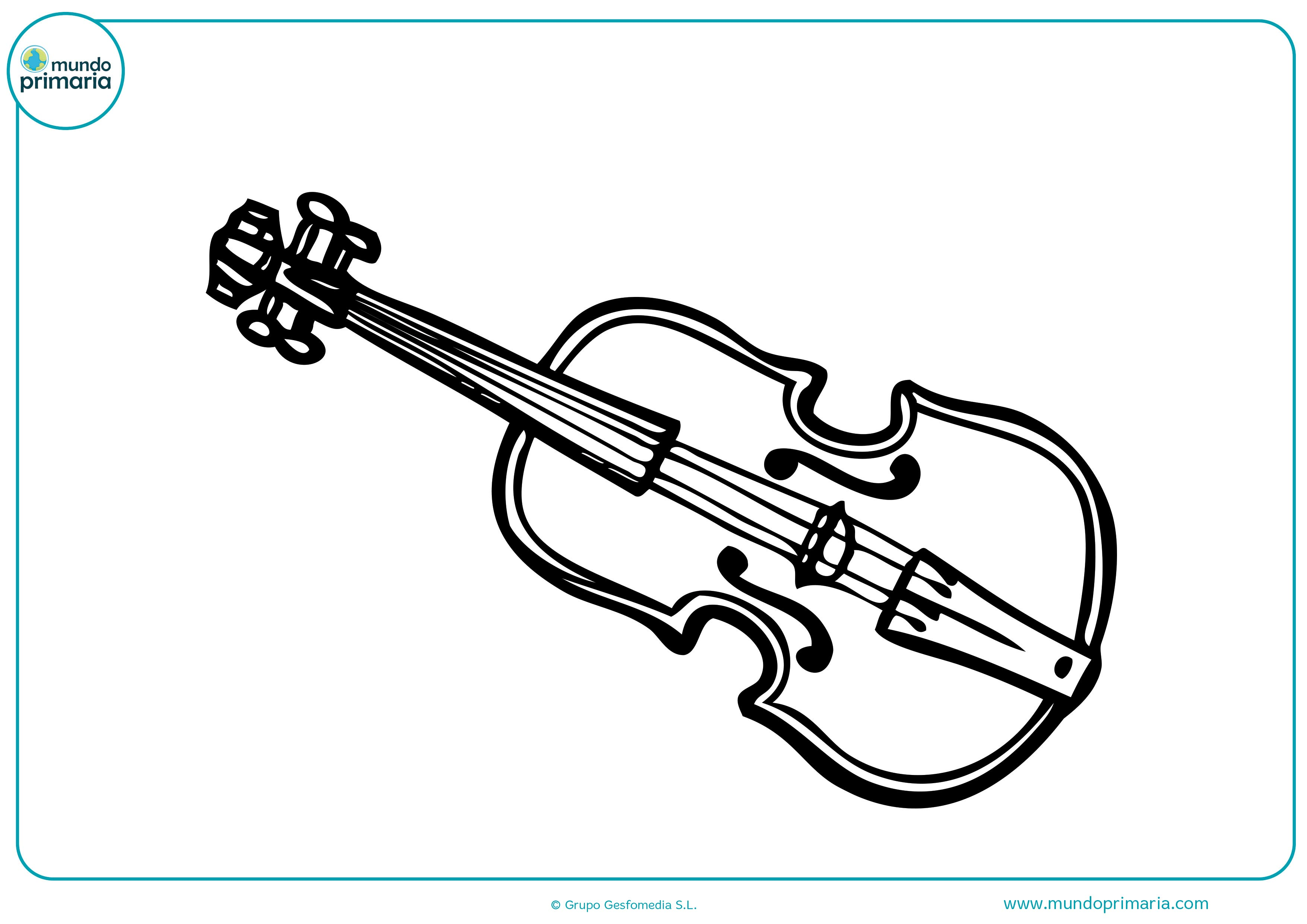 Pintar dibujos instrumentos musicales