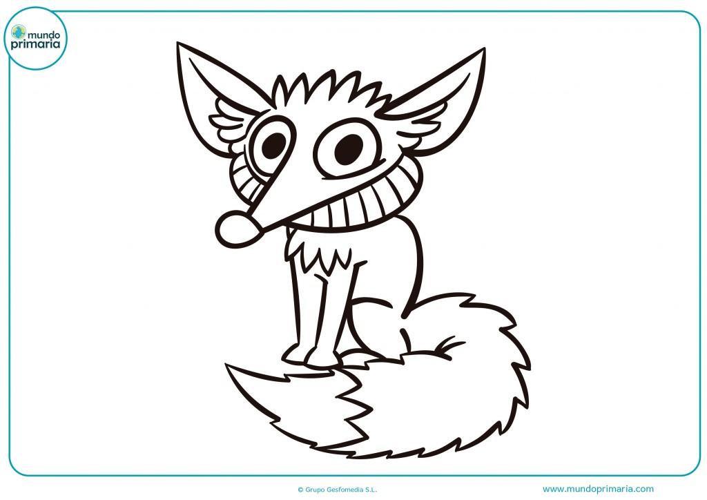 Descarga y colorea este dibujo de un zorro pequeño
