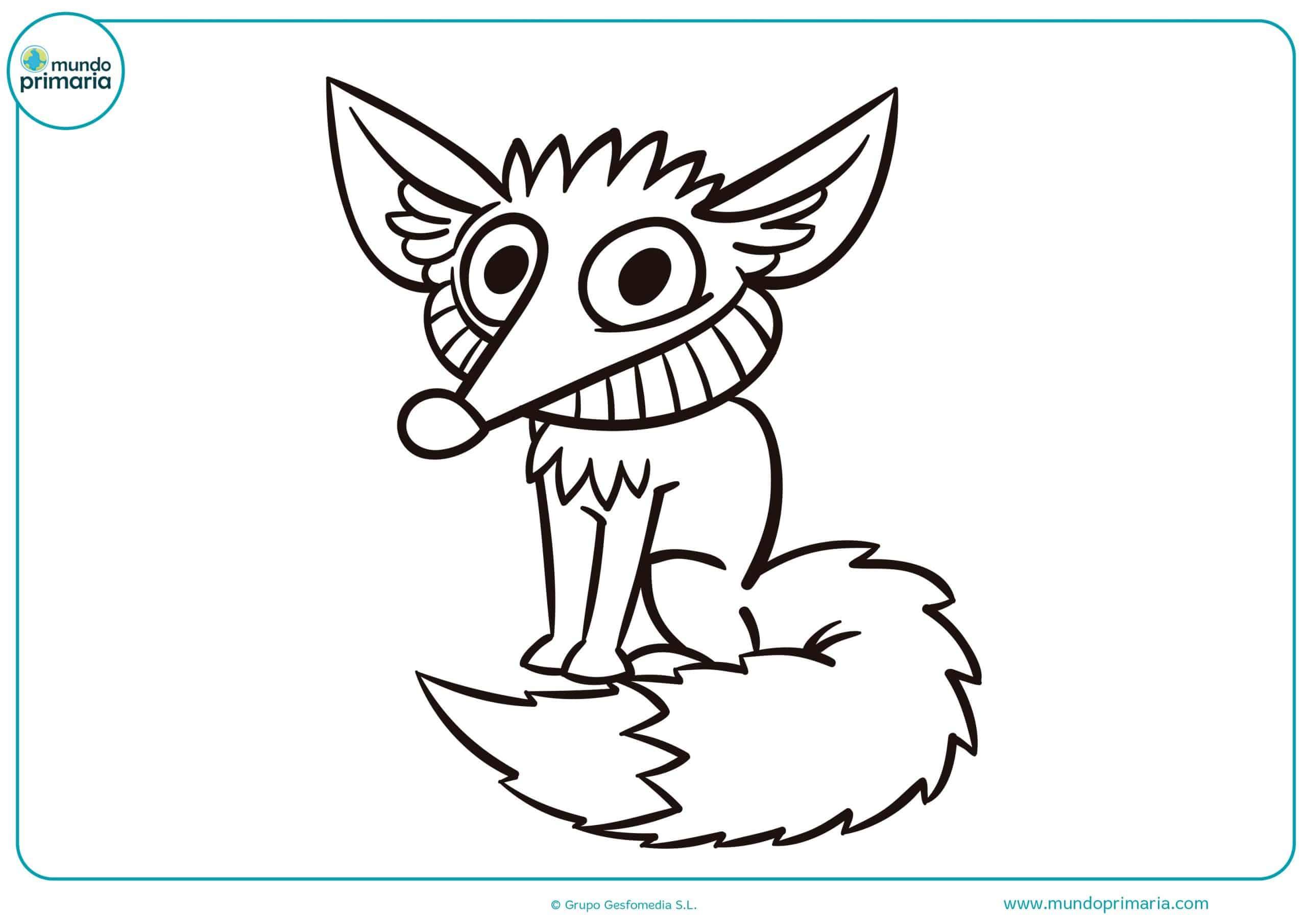 Colorear dibujo bosque animales niñas pequeñas