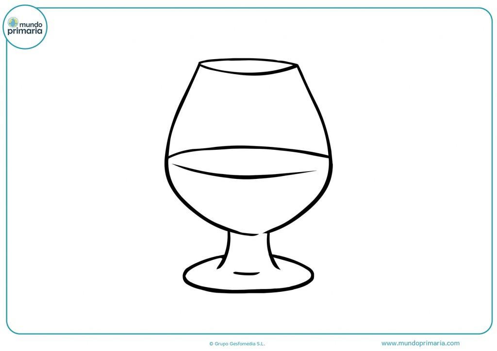 Descarga y pinta el dibujo de la copa para niños