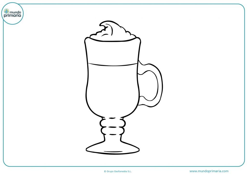 Descarga el siguiente dibujo de una copa de café y coloréalo