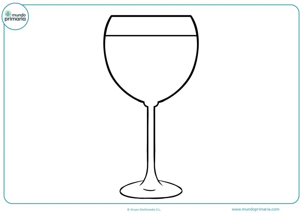 Imagen de una copa llena de vino para pintar