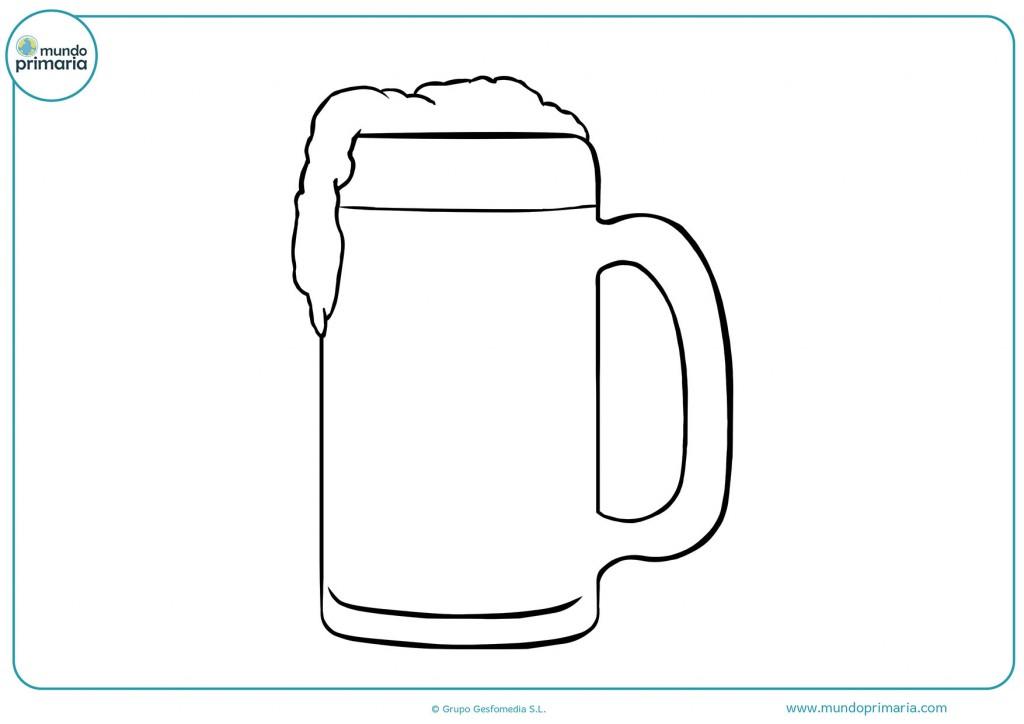 Dibujo de una gran jarra para colorear