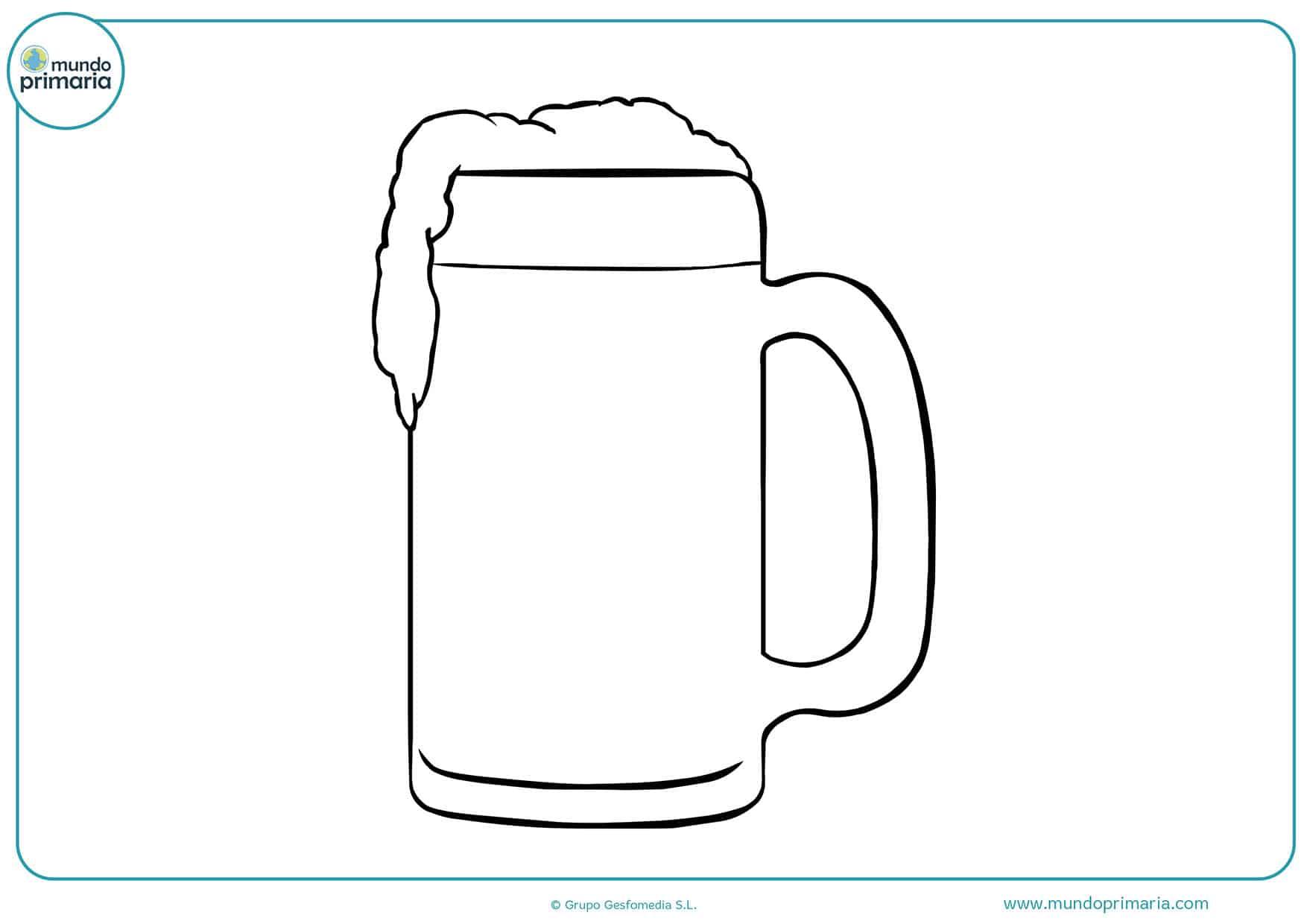 Dibujos bebidas colorear niños primaria