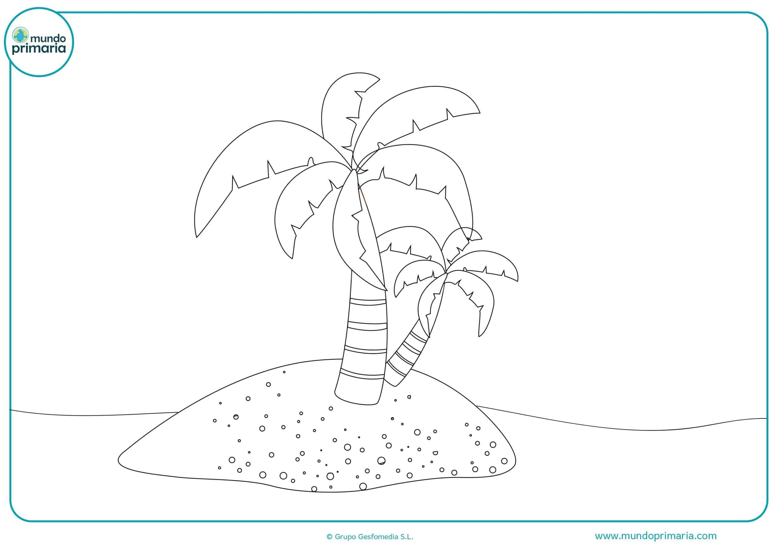 Colorear dibujos arboles gratis